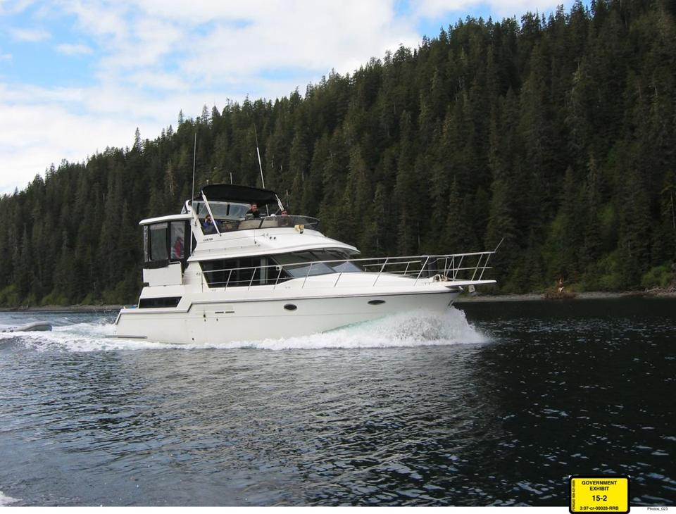 A 37-foot Carver yacht. Price tag: $237,000.