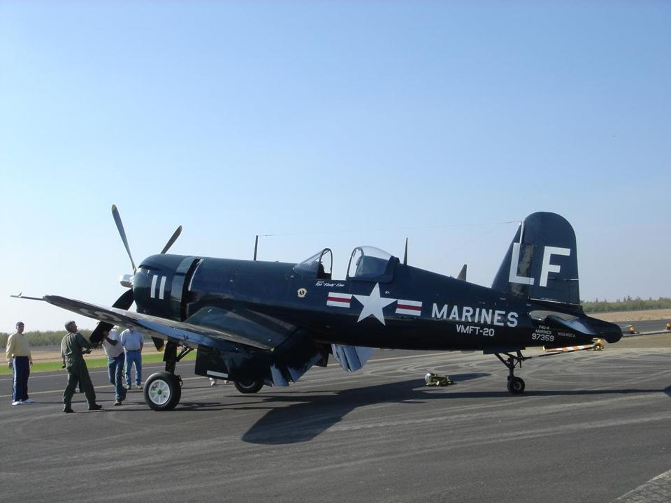 A F4U-4 Corsair fighter. Price tag: $2.4 million.