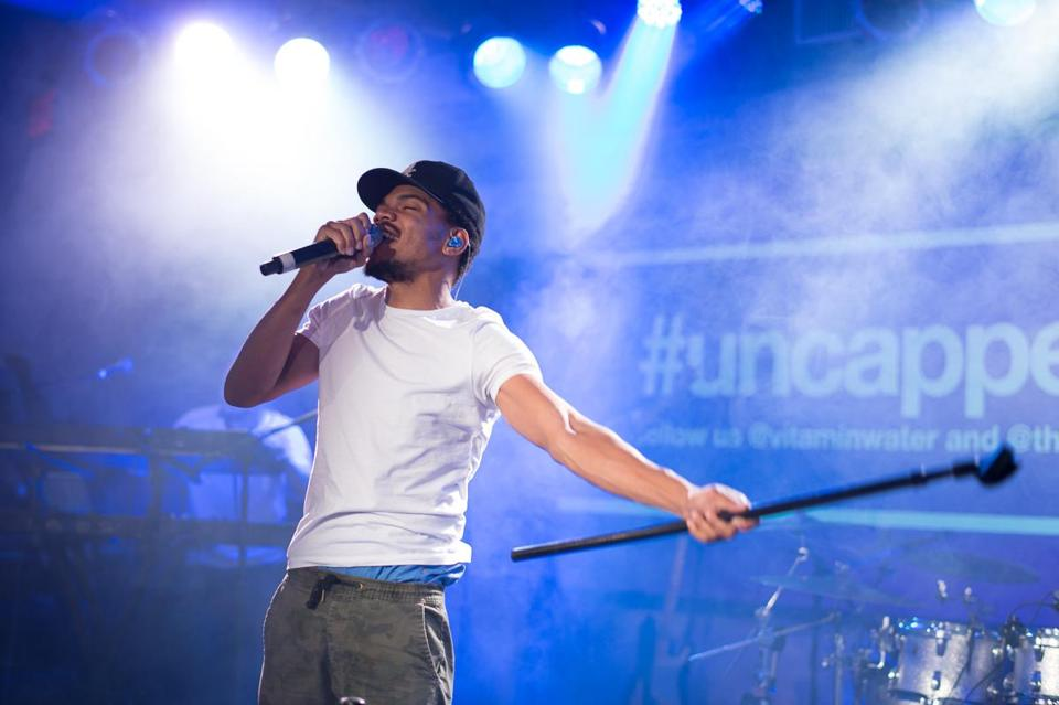 Chance the Rapper performing in New York last October.