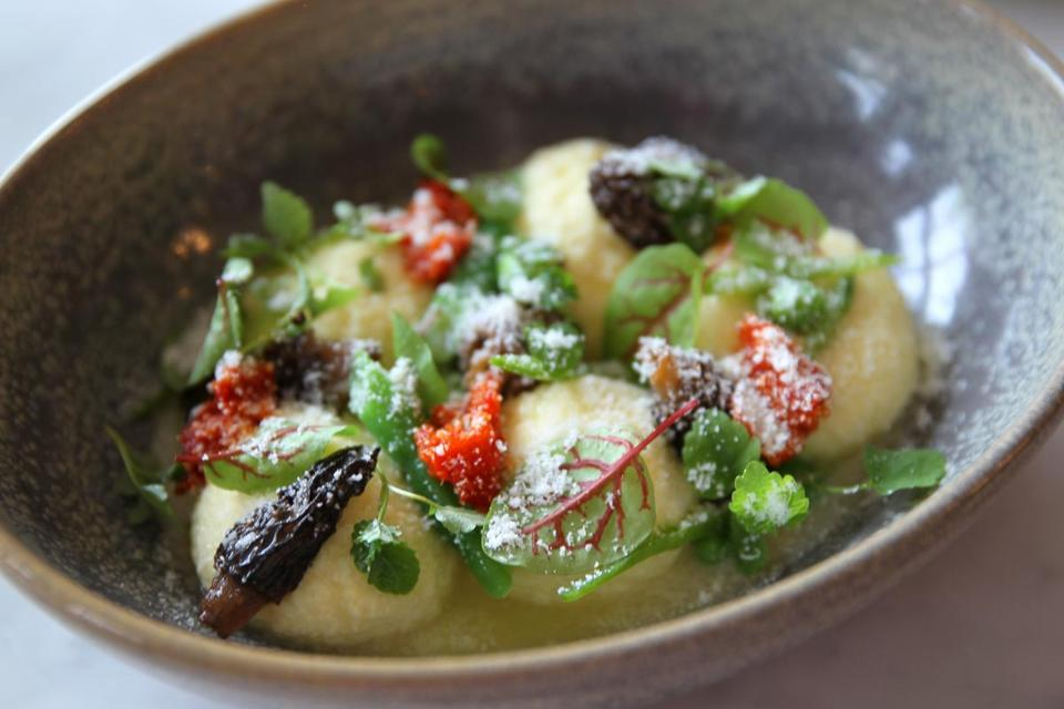 Boston, MA -05/26/16---Dining Out on SRV in the South End. DISH ricotta gnudi . (globe staff photo: Joanne Rathe Boston Globe section: food topic:01diningpic)