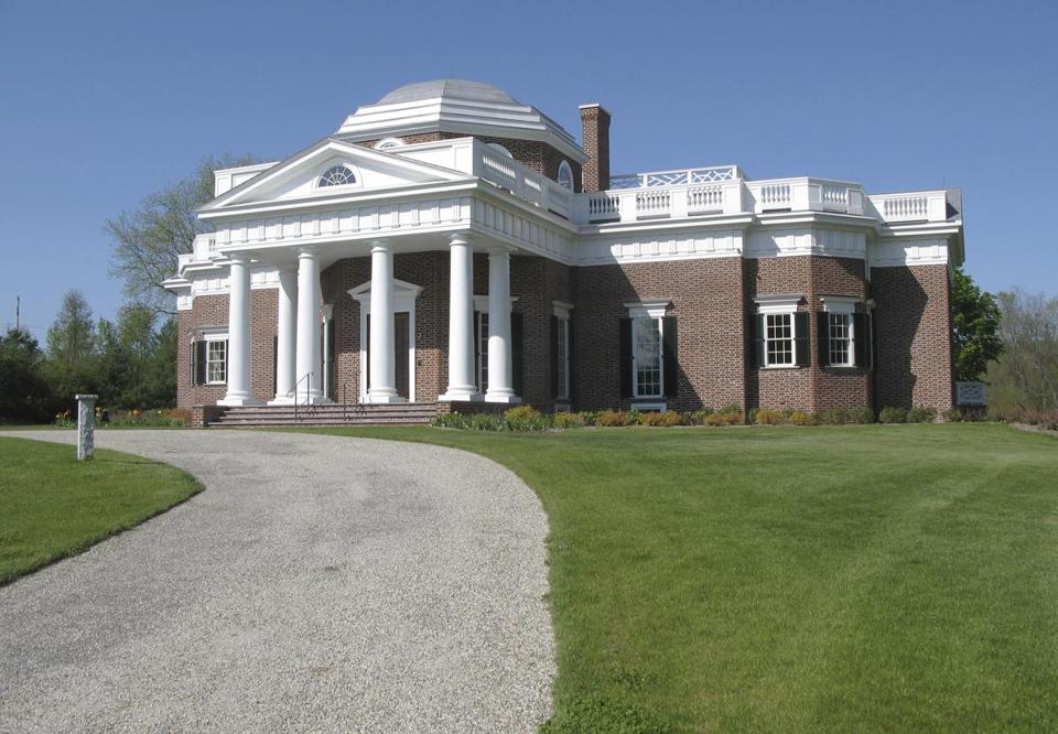 A replica of Thomas Jefferson's Monticello stands in Somers, Conn.