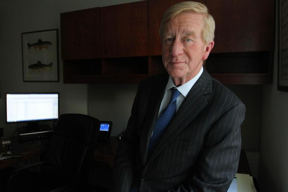Former Governor of Massachusetts William F. Weld poses for a photograph in his office in New York Thursday May 19, 2016. (Tina Fineberg for The Boston Globe)
