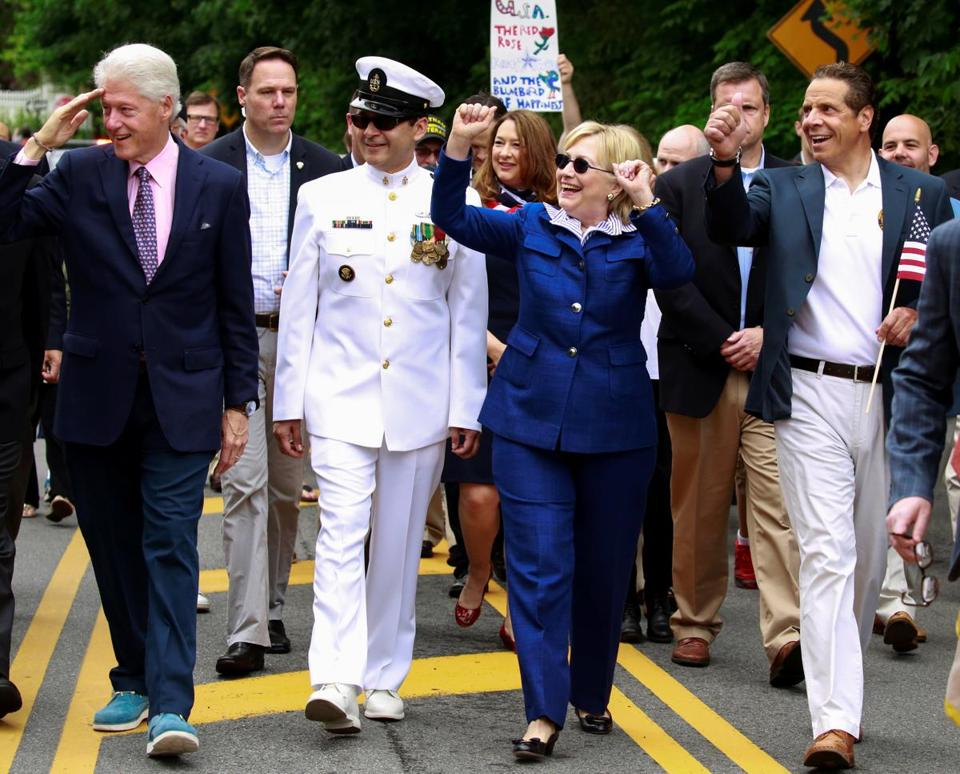 Navy mystery man in clinton memorial day photos identified Bill clinton address chappaqua