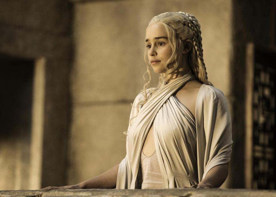 "Emilia Clarke in HBO's ""Game of Thrones.''"