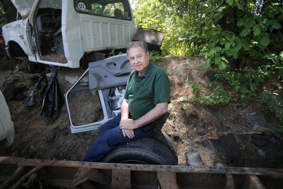 Junk cars drive his business - The Boston Globe