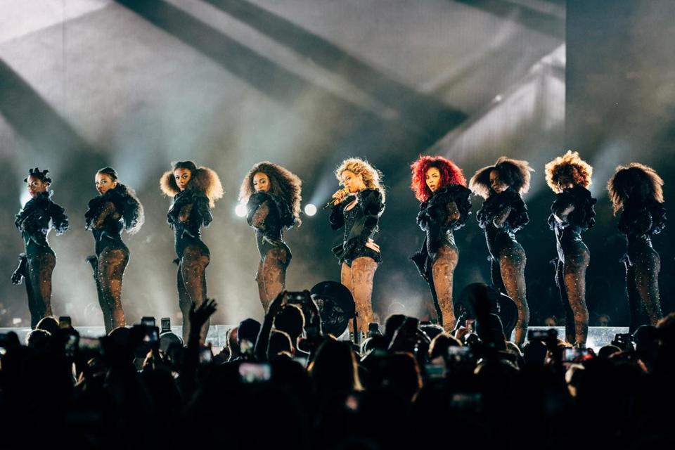 Beyoncé performed at Gillette Stadium Friday night