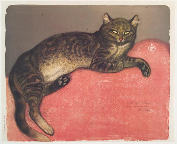 "Works in ""Meow"" include Théophile Alexandre Steinlen's ""The Cat in Winter."""