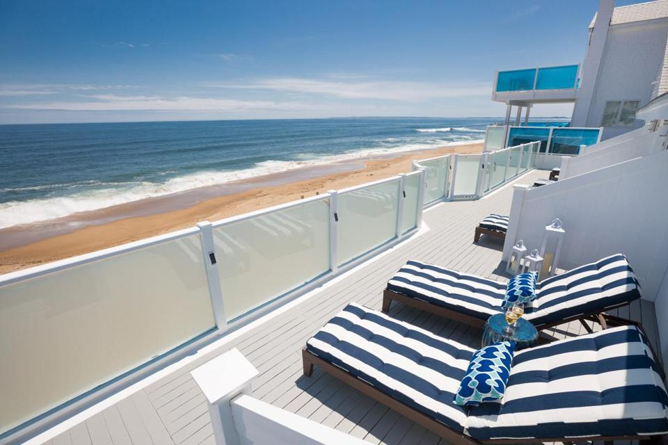 The View From Deck Of Blue On Plum Island Lark Hotels