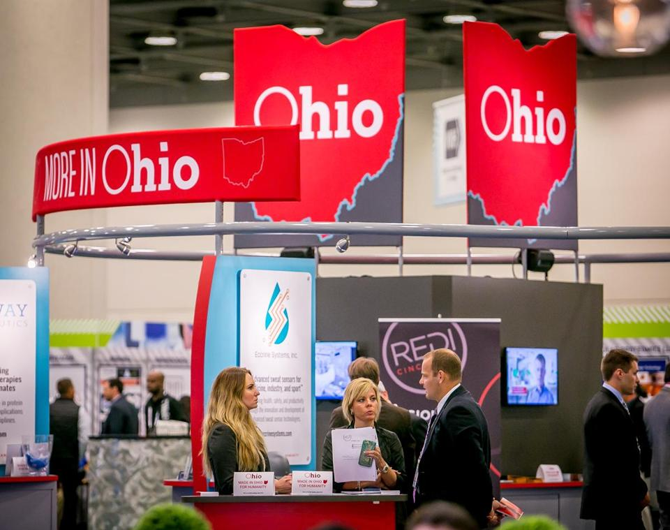 The Ohio Pavilion at the Bio Convention in San Francisco, Calif. on June 7th, 2016. (John Storey for The Boston Globe) Section: Business Editor: Leanne Burden Seidel