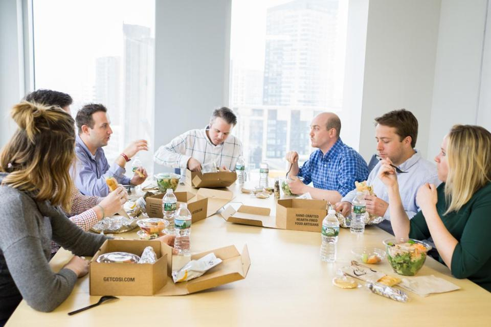 EzCater connects restaurants with businesses in need of food for a company gathering.