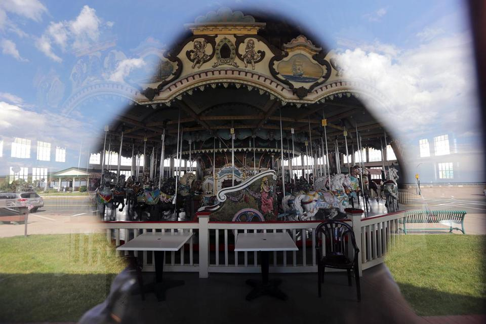 Hull, MA - 6/08/2016 - Paragon Carousel on Nantasket Ave. The Paragon Carousel is the last remaining attraction from Paragon Park amusement park on Nantasket Beach that closed in 1985. Location, Location, Location community profile of Hull. - (Barry Chin/Globe Staff), Section: Business, Reporter: unknown, Topic: 062616Location, LOID: 8.2.2601829856.