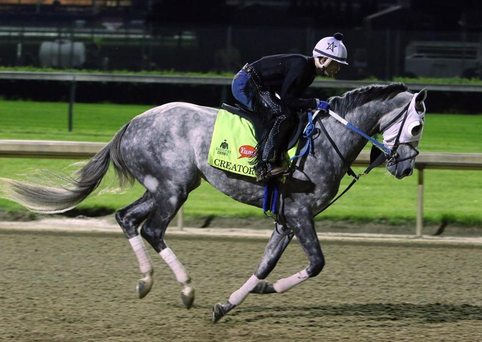 Exercise Rider Abel Flores Takes Kentucky Derby Entrant Creator For A Morning Workout At Churchill Downs