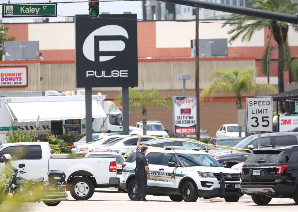 A police vehicle outside the Pulse nightclub.