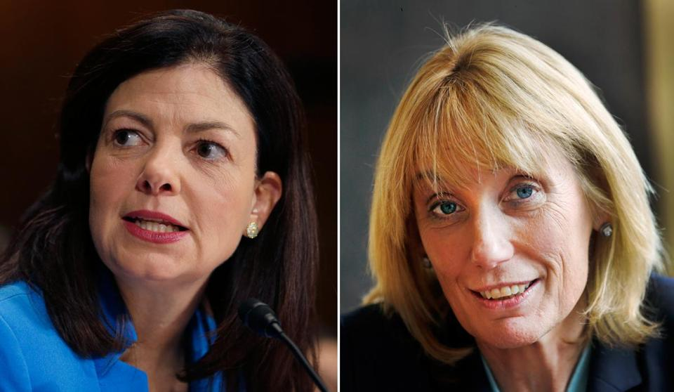 Republican Kelly Ayotte (left), the incumbent, is facing Democrat Maggie Hassan, New Hampshire's outgoing governor.