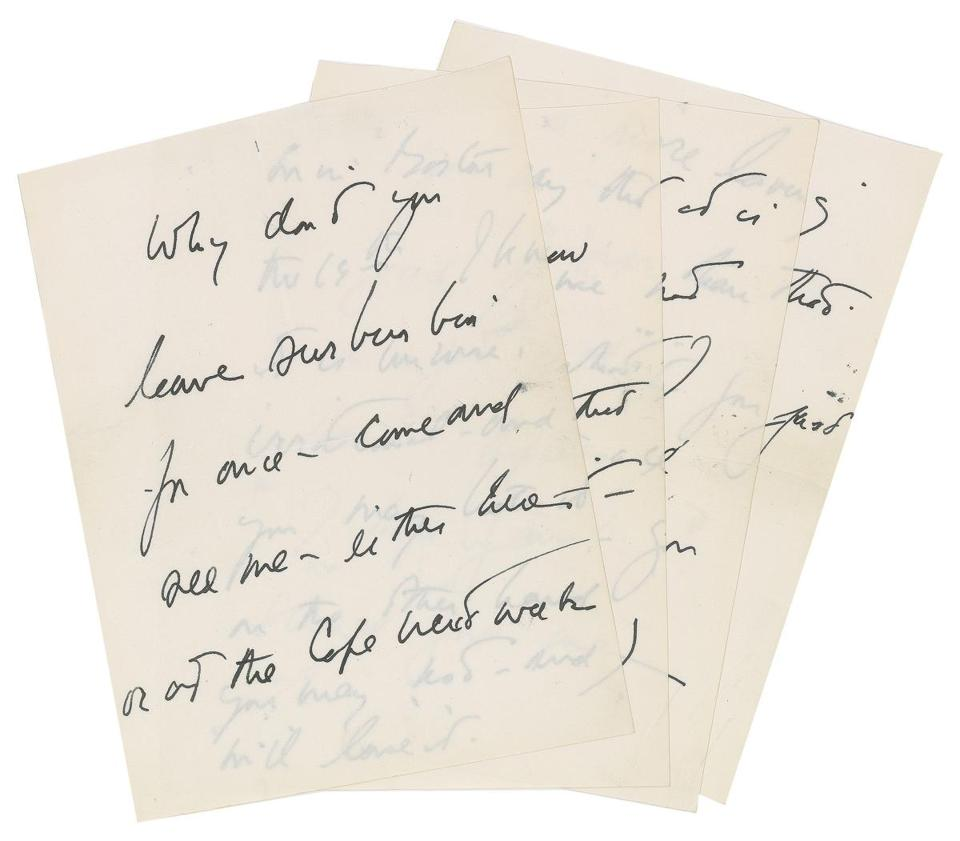 This hand-written letter by President John F. Kennedy fetched $88,970 at auction.