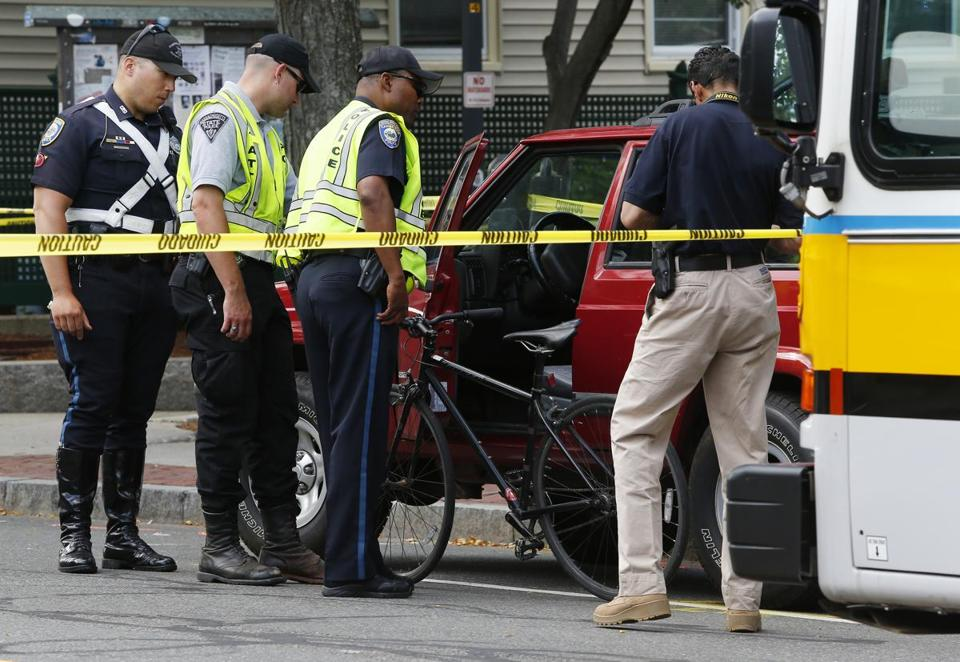 Police investigated a fatal bicycle crash in the Inman Square section of Cambridge last week.