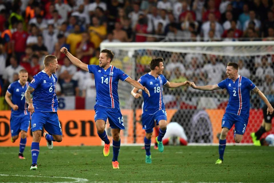 Iceland defeated England, 2-1, on Monday.