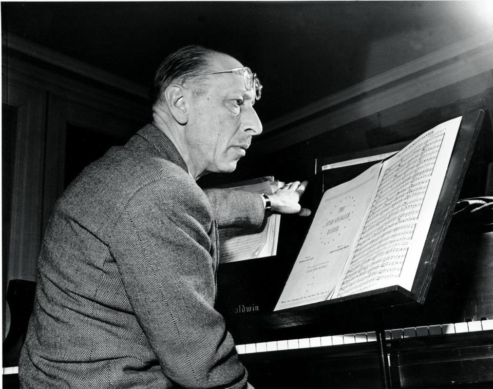 03ideas Russian composer Igor Stravinsky poses in Boston Jan. 12, 1944, as he prepares to conduct his own arrangement of the Star Spangled Banner to be performed by the Boston Symphony Jan. 14 and 15. Stravinsky said he kept the national anthem's melody the same, but changed the harmony. (AP Photo/Abe Fox)