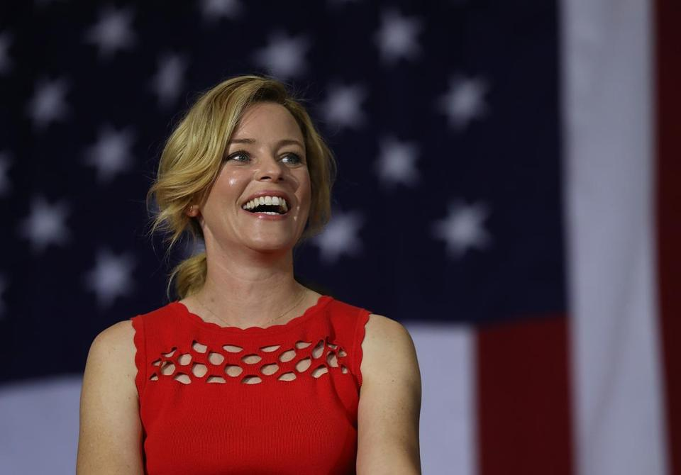 CULVER CITY, CA - JUNE 03: Actress Elizabeth Banks looks on during a Women for Hillary Organizing event at West Los Angeles College on June 3, 2016 in Culver City, California. With less than one week to go before the California presidential primary, Hillary Clinton is campaigning in Southern California. (Photo by Justin Sullivan/Getty Images)
