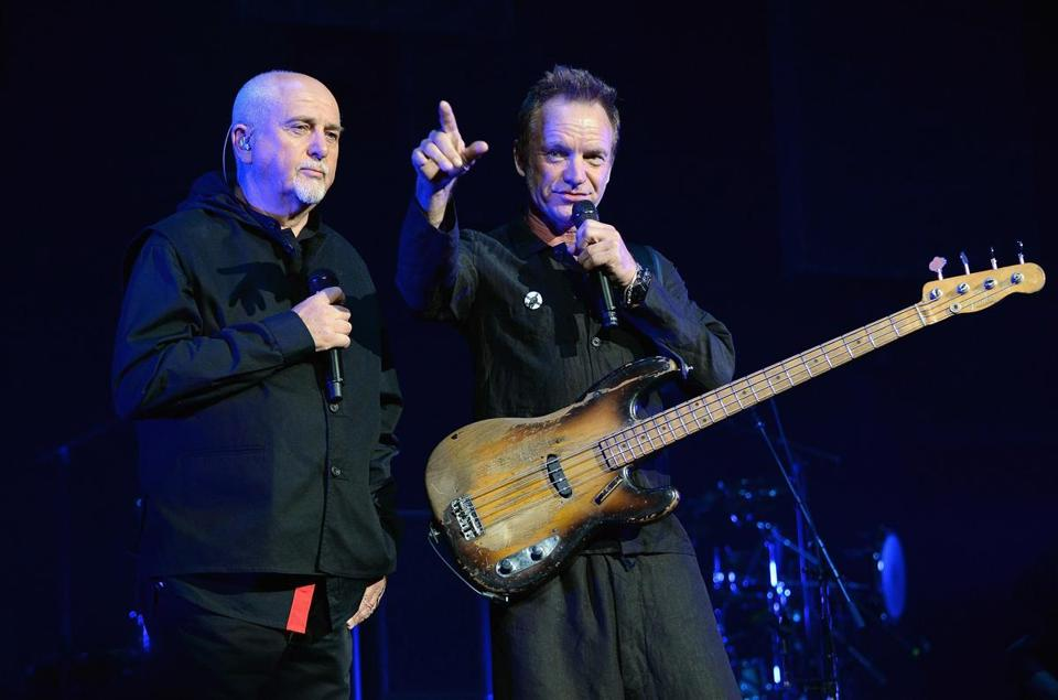 Peter Gabriel (left) and Sting