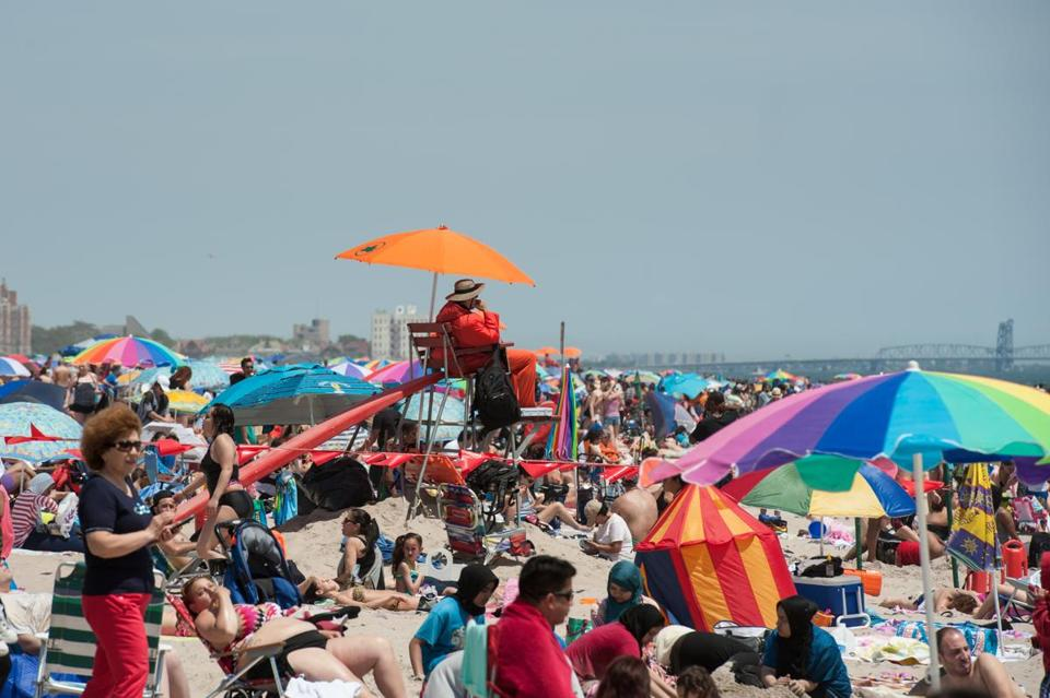 The scene at Coney Island in Brooklyn, N.Y., on May 29.