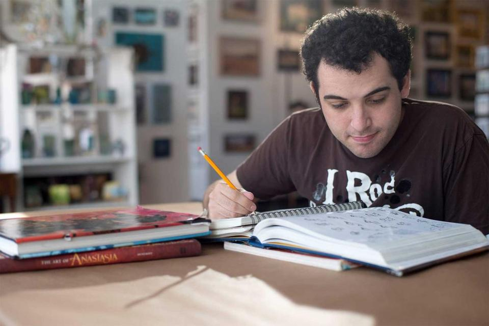 "Owen Suskind in the documentary ""Life, Animated."""