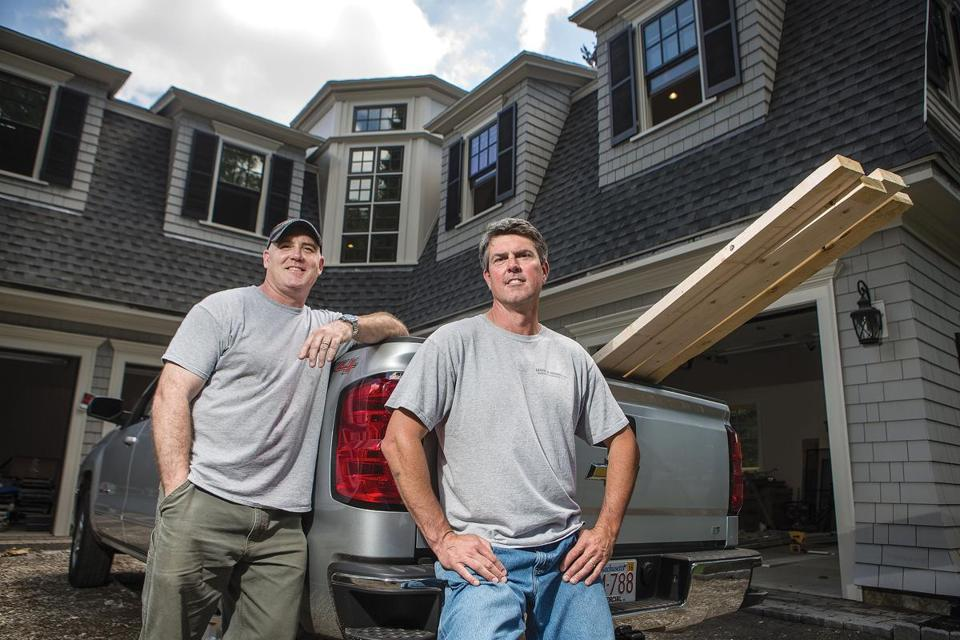 Brendan Leyne (left) and Rob Shannon of Leyne & Shannon building contractors are developing this property in  Lexington.
