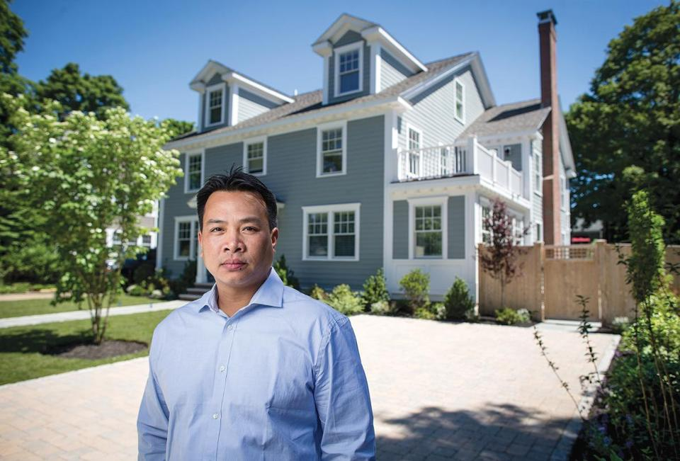 "Scott Nguyen's ""driveway""  is a source  of conflict in  his Winchester neighborhood."