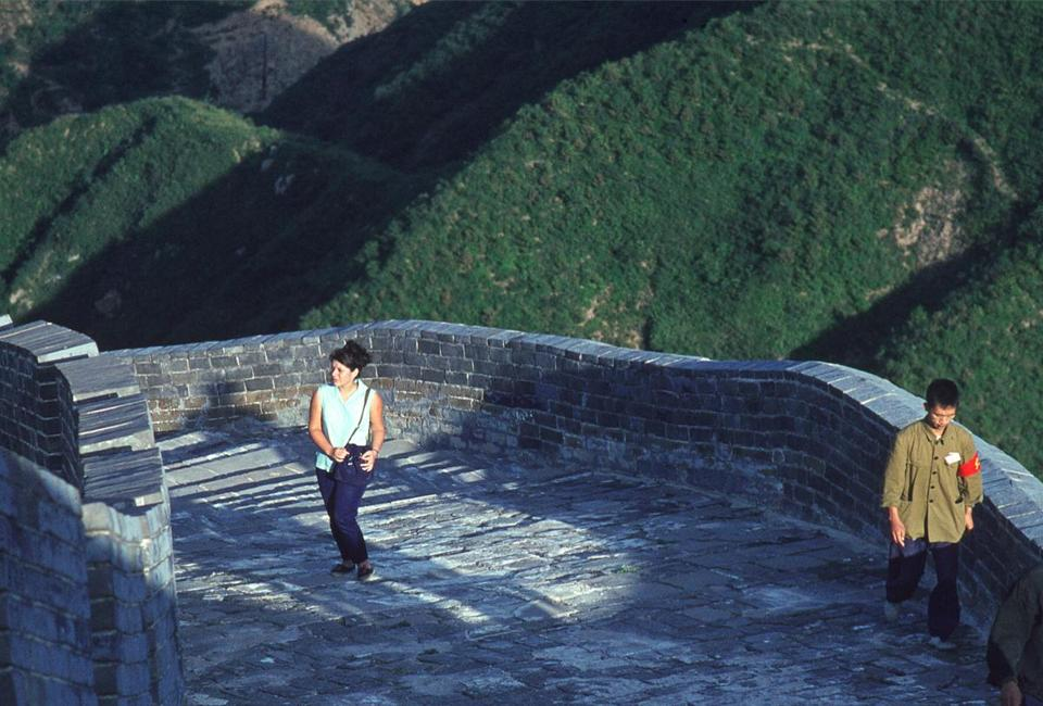 Photographer Solange Brand at the Great Wall of China.