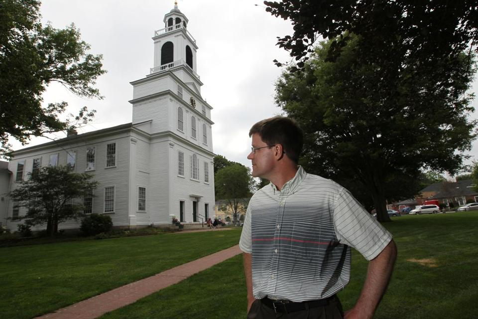 """We consider this to be a religious act,"" Dan Bostwick said of First Parish's plan to install solar panels on the Bedford church's roof."