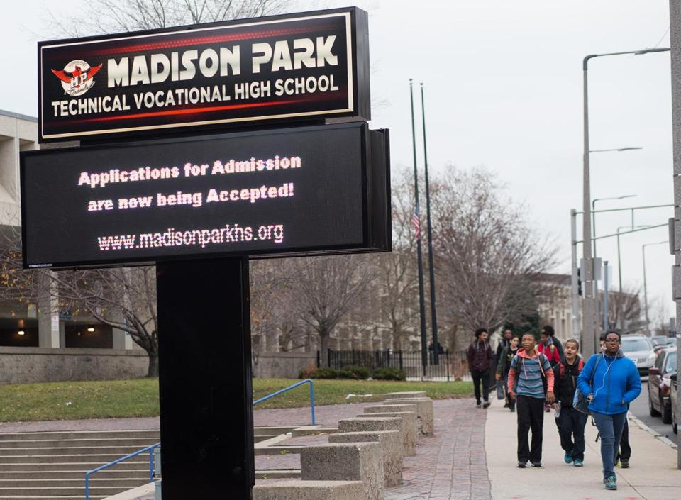 The two top officials at Madison Park Technical Vocational High School never secured the necessary state licenses to run a vocational school in Massachusetts.