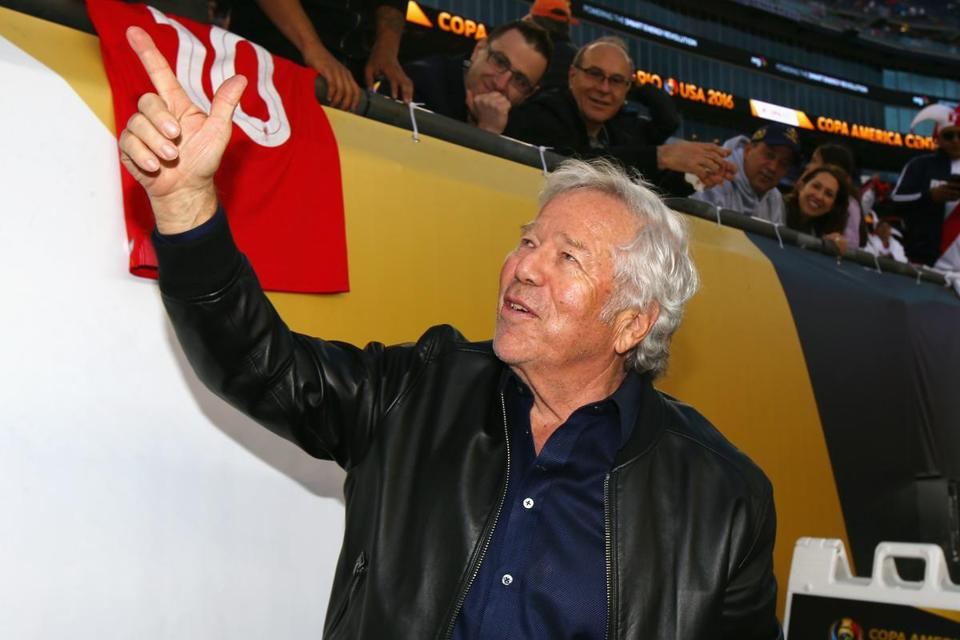 Patriots owner Robert Kraft, pictured at a June soccer match at Gillette Stadium.