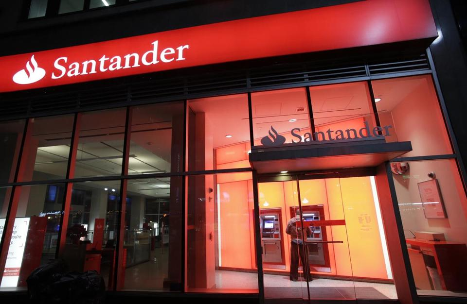 A branch of Santander bank, in New York.