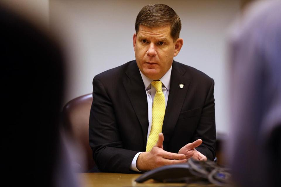 01/27/2016 -Boston, MA- Boston Mayor Martin Walsh during an interview at the Boston Globe in Boston, MA January 27, 2015. (Craig F. Walker/Globe Staff) section: Metro reporter: