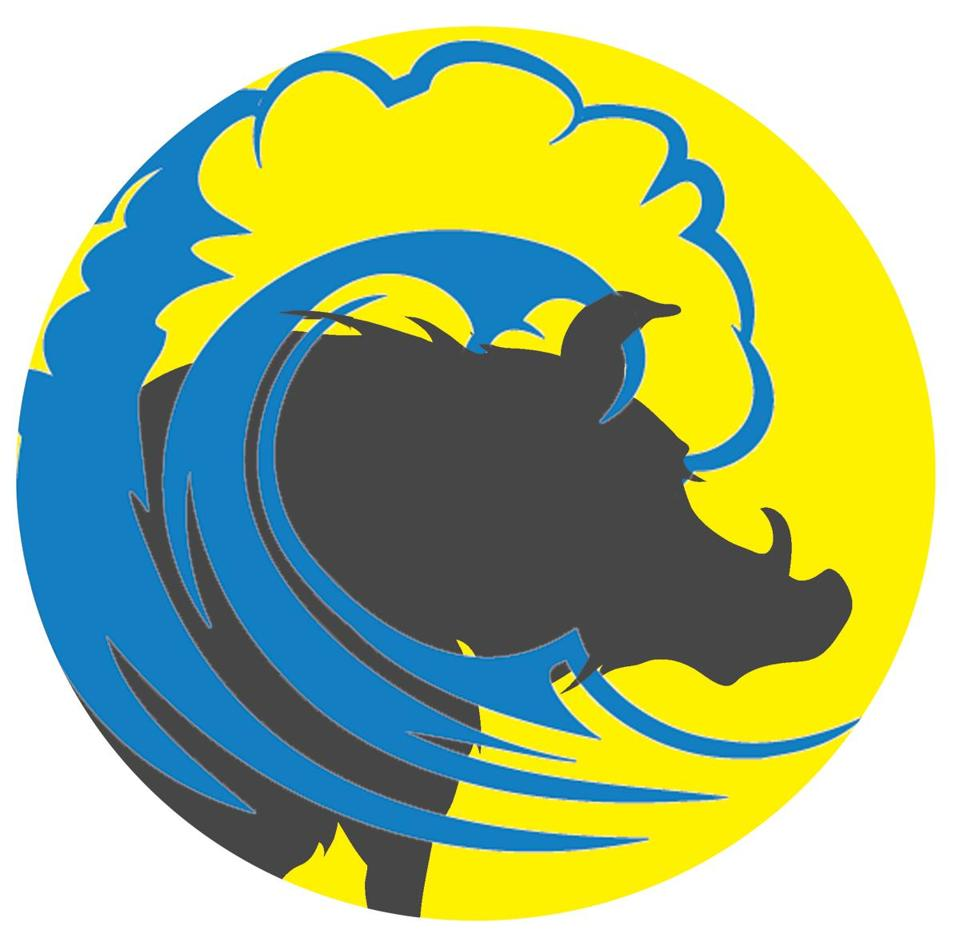 Boar silhouette with target icon on gray background with round shadow. Vector illustration.