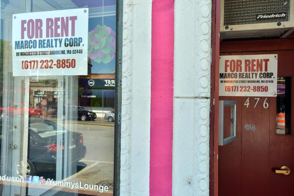 Arlington's business district typically has few vacant storefronts, but now more than a dozen are sitting empty.