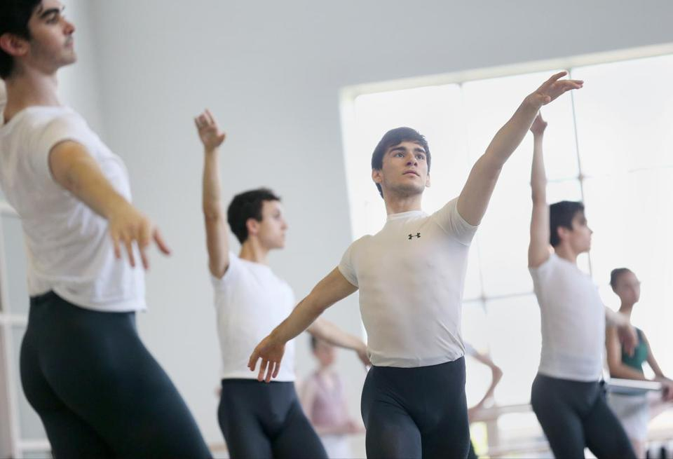 "Boston Ballet II dancers rehearse for ""First Look."""