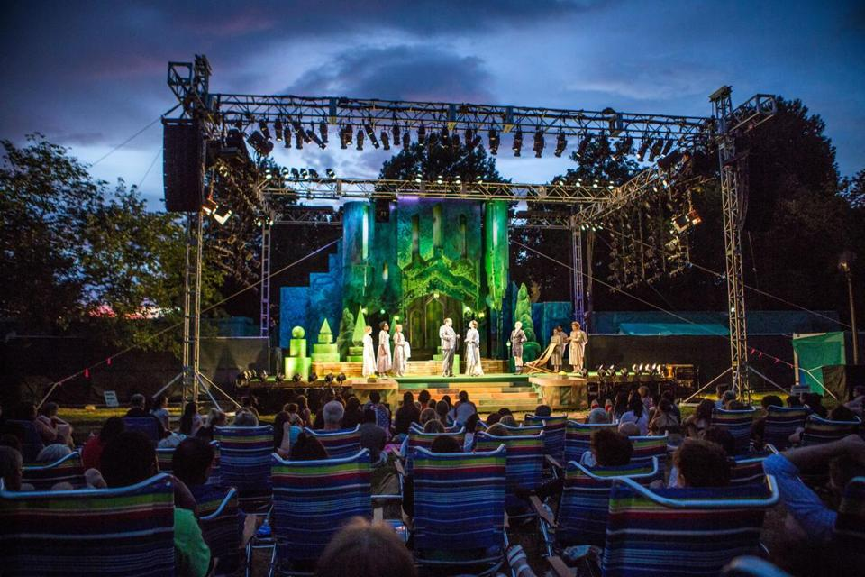 """Love's Labour's Lost,"" presented by the Commonwealth Shakespeare Company, on Boston Common."