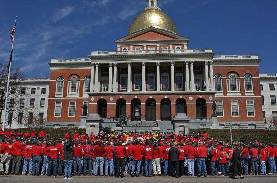 The Massachusetts State House, usually vacant over the weekend, was filled with action Saturday.