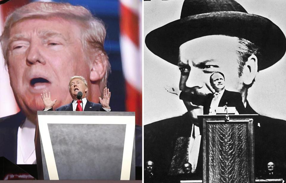 "Donald Trump has claimed Orson Welles's classic 1941 film ""Citizen Kane is his favorite movie."