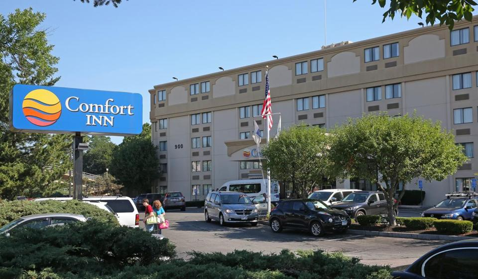 A room at the Comfort Inn in Dorchester, which overlooks a Jiffy Lube and a Dunkin' Donuts, will cost you about $279 per weekend night this month.