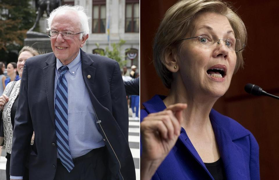 Bernie Sanders and Elizabeth Warren.