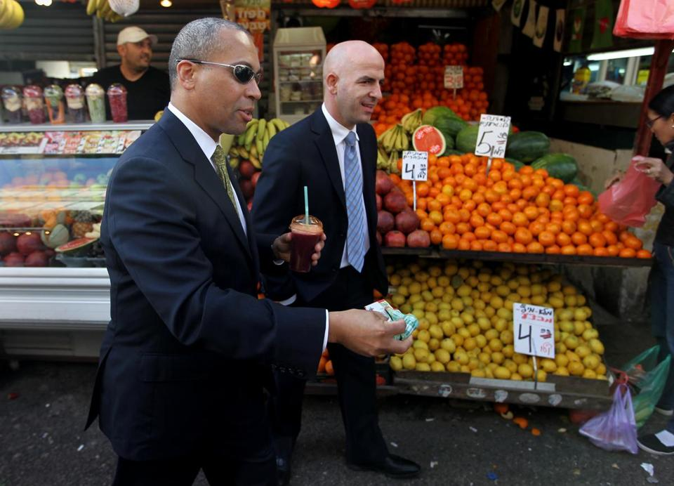 During a trade 2011 trade mission to Israel, then-governor Deval Patrick visited a market in Tel Aviv.