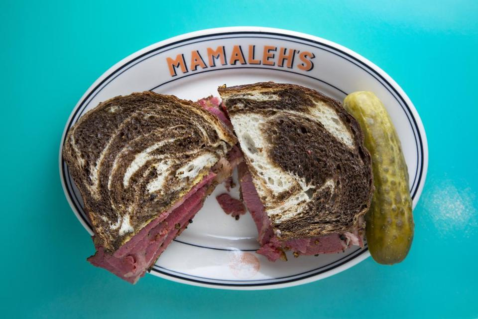 7/27/16 - Cambridge, MA - Mamaleh's Delicatessen - This is the pastrami sandwich. Topic: 07quickbite. Photo by Dina Rudick/Globe Staff
