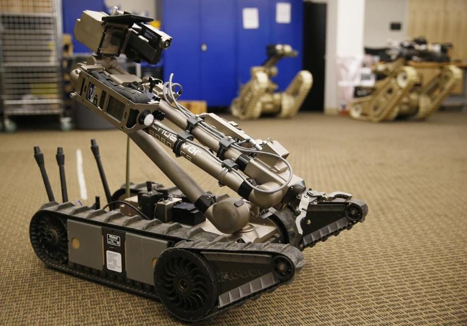 Bedford, MA - 8/1/2016 - The 510 PacBot (cq) Robot is seen at Endeavor Robotics in Bedford, MA, August 1, 2016. (Jessica Rinaldi/Globe Staff) Topic: endeavor