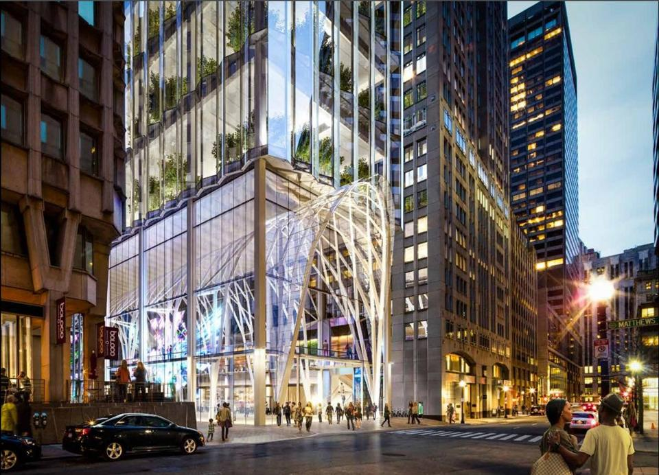 26winthrop - Millennium Partners' proposal for the site of the Winthrop Square Garage. (Handel Architects)