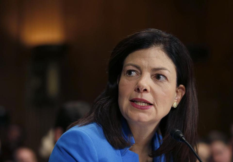 Sen. Kelly Ayotte, D-N.H. on Capitol Hill in Washington earlier this year.