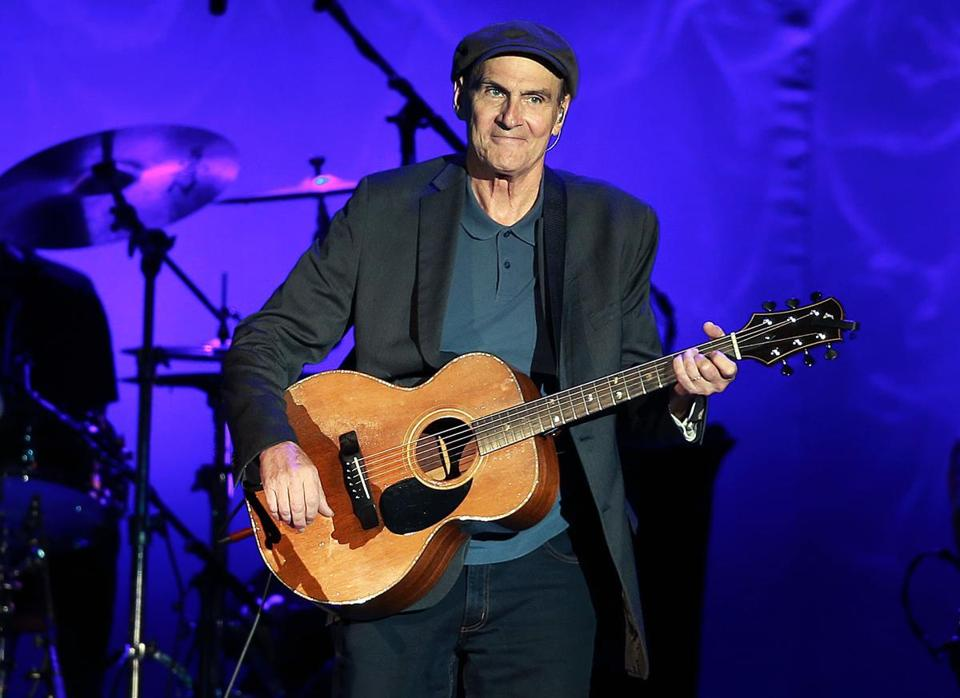 08/03/16: Boston, MA: James Taylor is pictured as he performs at Fenway Park. (Globe Staff Photo/Jim Davis) section:living topic: 05taylor