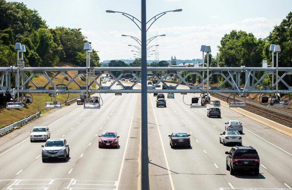 Devices On New Gantries Above The Machusetts Turnpike Will Soon Collect Tolls For Now