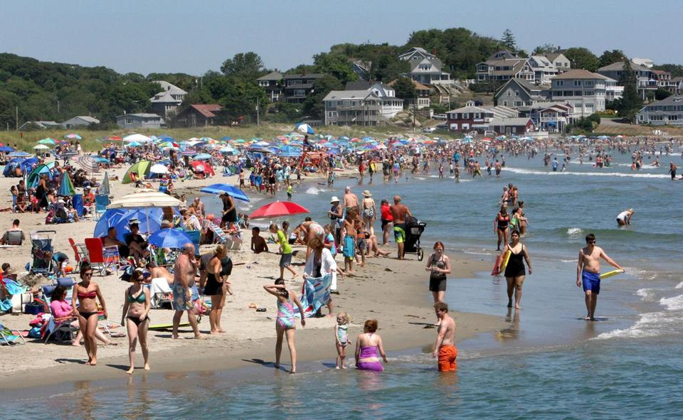 The Crowd Covers Sands At Good Harbor Beach